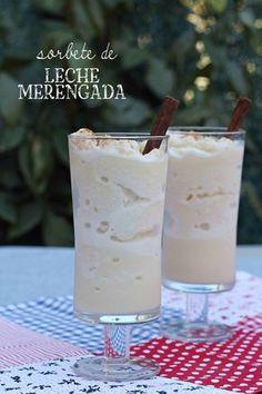 Sorbete de leche merengada {by Paula, Con las Zarpas en la Masa}