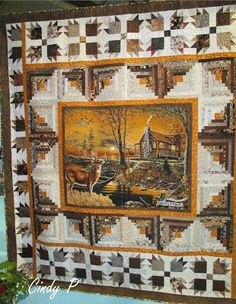 Were you aware that log cabin batik quilts are a standard way? Batik quilts is essentially a type of quilt made of a textile made of synthetic materials such as aluminum and cellulose, made as the quilting or wallpaper. Fabric Panel Quilts, Batik Quilts, Fall Quilts, Fabric Panels, Jellyroll Quilts, Log Cabin Quilt Pattern, Log Cabin Quilts, Log Cabins, Wildlife Quilts