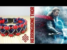 Herringbone Stitch Thor Themed Solomon Paracord Bracelet Tutorial - YouTube