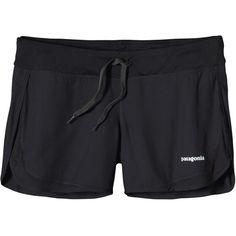 "Patagonia Women's Strider Shorts - 3 1/4"" ($45) ❤ liked on Polyvore featuring activewear, activewear shorts, sport, pajamas, shorts, black, logo sportswear, patagonia and patagonia sportswear"