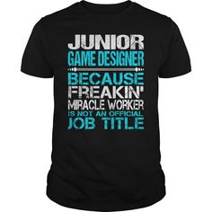 Awesome Tee For Junior Game Designer T-Shirts, Hoodies. CHECK PRICE ==► Funny Tee Shirts