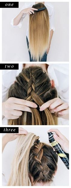 Braided Ponytail ||| Quick and Easy Hairstyles for women ||| Step by Step Hairstyles ||| 40 Easy Step By Step Hairstyles For Girls