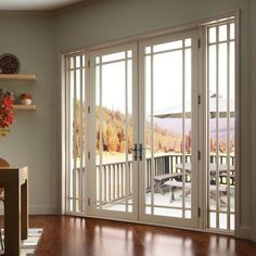 maybe this french door with panels on the side vs four panel sliding door in dining