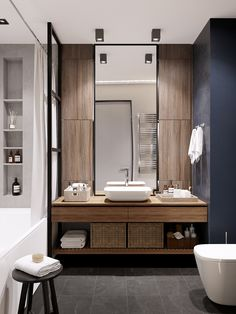 Ideas bathroom vanity design decor for 2019 Bathroom Mirror Design, Bathroom Vanity Storage, Modern Bathroom Design, Bathroom Interior Design, Master Bathroom, Bathroom Pink, Relaxing Bathroom, Shower Storage, Ikea Bathroom