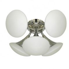2555-5CC Trumpet Contemporary 5 Light Semi Flush Light from Lights 4 Living