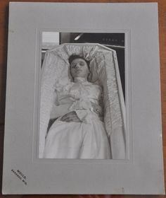 Post mortem cabinet photo of a young woman from Baraboo, Wisconsin
