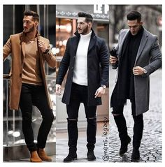 Outfit Hombre Formal, Formal Men Outfit, Stylish Mens Outfits, Casual Winter Outfits, Men Casual, Best Winter Outfits Men, Mode Costume, Mens Fashion Suits, Classy Mens Fashion