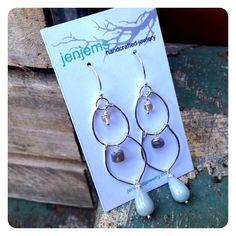 Multi stone sterling silver chandelier earrings by jenjems on Etsy