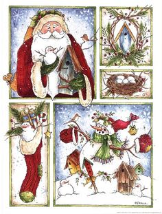 *Xmas print* - card topper/embelishments