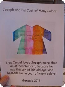 Joseph's Coat of Many Colors! - Confessions of a Homeschooler Printables in Documents as joseph's coat pg 1 and joseph's coat pg 2 Toddler Bible Crafts, Preschool Bible Activities, Bible Story Crafts, Bible For Kids, Bible Stories, Sunday School Lessons, Sunday School Crafts, Joseph Crafts, Children's Church Crafts