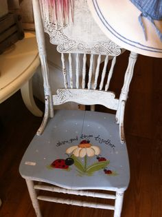 My new/old reading chair... Hand painted of course!