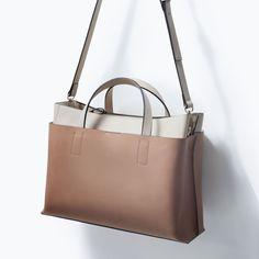 COMBINED CITY BAG from Zara Zara 가방 e239f826e2391