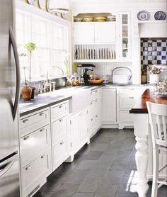 Best 15+ Slate Floor Tile Kitchen Ideas | I want | Pinterest | Devol Soapstone Countertops With Slate Floors Html on