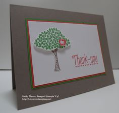 Stampin' Up!'s new Sprinkles of Life Stamp Set with Tree Builder Punch. For a technique tip, go to my Thursday, May 14, 2015, blog at http://kmaurer.stampinup.net
