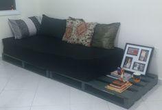 Organize sem frescuras!: Meu cantinho- sofá de pallets (antes e depois)