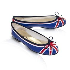 Leather Ballet Flats, Henrietta Union Flag Red White Blue..Oh I need these!!!