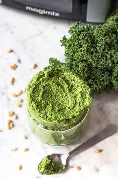 Kale Pesto, Vegan Recipes, Ethnic Recipes, Food, Vegane Rezepte, Essen, Meals, Yemek, Eten