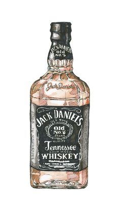 Items similar to Jack Daniels Whiskey on Etsy Jack Daniels, Cerave Night Cream, Watercolor Illustration, Watercolor Art, Cocktail Illustration, Bottle Drawing, Alcohol Bottles, Food Drawing, Food Illustrations