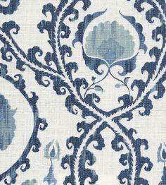 CHINA BLUE Oxus Fabric by Lewis & Wood   Jane Clayton -- curtains?