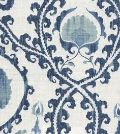 CHINA BLUE Oxus Fabric by Lewis & Wood | Jane Clayton -- curtains?
