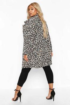 Plus Leopard Print Duster   boohoo
