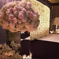 Flower wall designed with Avalanche by Jeff Leatham