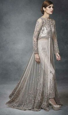 As a result, couture bridal gowns are tailor made for a specific customer. Pakistani Wedding Outfits, Bridal Outfits, Pakistani Dresses, Indian Dresses, Bridal Gowns, Beautiful Dresses, Nice Dresses, Indian Bridal Wear, Party Wear Dresses