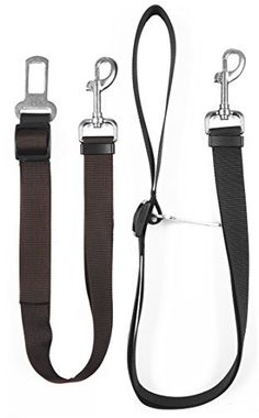 Fatherson Adjustable Pet Dog Car Seat Belt Safety Leads Car Vehicle Harness Seatbelt Brown  Black ** Find out more about the great product at the image link.