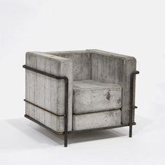 Just needs a few pillows #concrete #chair
