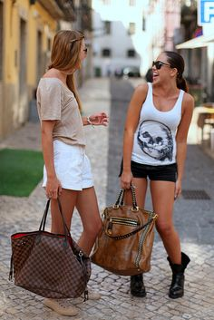 shorts and big bags