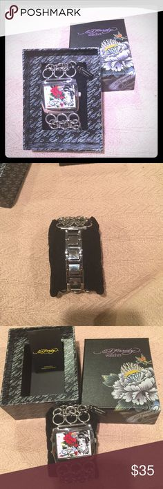 Ed Hardy  Woman's Watch Ed Hardy NWT Watch with Swarovski Crystals Never been used. Silver Ed Hardy Accessories Watches