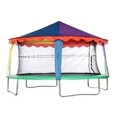 The Circus Tent Canopy will add a splash of colour to your Jumpking Tr&oline enclosure and your kids imaginations  sc 1 st  Pinterest & Trampoline tent... for the kids on day | house | Pinterest ...