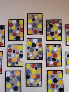 Collage de ronds, inspiré de Sonia Delaunay.