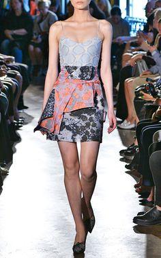 Blue Polka Strap Layered Dress by Michael van der Ham for Preorder on Moda Operandi