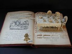 """Alice In Wonderland """"book carving"""" :: Su Blackwell :: this is brilliant.and not just because I love alice in wonderland. Alice In Wonderland Book, Adventures In Wonderland, Alice Book, Altered Books, Altered Art, Books Art, Library Books, Papier Diy, Up Book"""