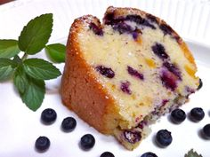 Theresa's Blueberry Peach Pound Cake | South Philly Review