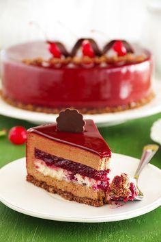 """Люблю готовить. - Торт """"Красное и черное"""". (Шоколадно-вишневый)."""