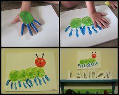 Bekijk de foto van wendyvwy met als titel Rupsje nooitgenoeg gemaakt van handjes en andere inspirerende plaatjes op Welke.nl.
