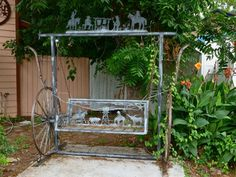 Metal porch swings – Summer is the best time to turn your porch design ideas i. Porch Swing Frame, Patio Swing, Porch Swings For Sale, Big Front Porches, Vintage Porch, Diy Porch, The Fresh, Garden Projects, Garden Ideas