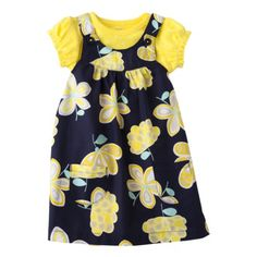 JUST ONE YOU; Made by Carters Infant Girls; Jumper Set - Yellow;Navy - Target, Probably