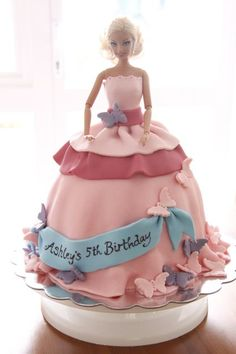 Image detail for -... cake...not just any girl's birthday cake, a Barbie princess cake! This