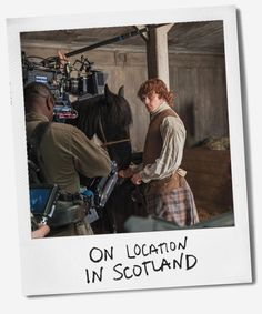 """DuJour Magazine goes behind the scenes of """"Outlander"""" with actor Sam Heughan."""