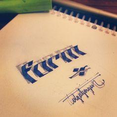 3D Calligraphy by Tolga Girgin: Prepare to be Amazed! | Cube Breaker
