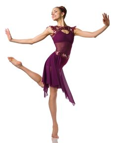 Bootytard With Attached Side Drape: Burgundy spandex, burgundy stretch mesh, nude spandex, and burgundy sequin stretch lace ; Modern Contemporary Dance, Contemporary Dance Costumes, Modern Dance, Lyrical Costumes, Ballet Costumes, Lyrical Dance, Jazz Shoes, Dance Instructor, Dance Tights