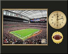 Houston Texans Team Logo Photo Inserted In A Gold Slide In Frame & Mounted On A Plaque With Arabic Clock -Awesome & Beautiful-Must For Any Fan! Art and More, Davenport, IA http://www.amazon.com/dp/B00NHCYVZI/ref=cm_sw_r_pi_dp_Exdxub0ER4KHP