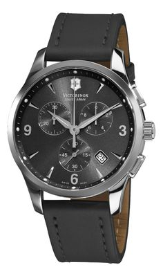 Victorinox Swiss Army 241479 Alliance Black Chronograph Dial Watch