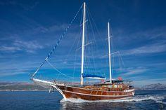 Luxury motor sailing yacht Atalanta for charter cruises on the Adriatic sea, superior personalized service.