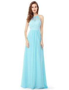 online shopping for Ever-Pretty Womens Floor Length Sleeveless Jewel Lace Neckline Bridesmaid Dress 08982 from top store. See new offer for Ever-Pretty Womens Floor Length Sleeveless Jewel Lace Neckline Bridesmaid Dress 08982 Different Prom Dresses, Open Back Prom Dresses, Dresses Short, Beautiful Long Dresses, Dresses Elegant, Casual Dresses, Formal Dresses, Peach Bridesmaid Dresses, Prom Dresses Blue