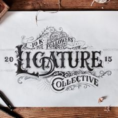 """Just finished my entry for the 10k contest by @ligaturecollective ! Hope you like it! Cheers! #ligature10k #handlettering #lettering #typography #handmade…"""