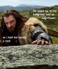 Thorin the Majestic. Okay, I've got to stop posting these, but seriously, I can't help it, it makes me laugh.